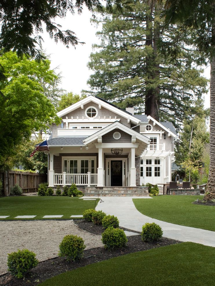 Glhomes for a Traditional Exterior with a Columns and Mill Valley Classic Cottage by Heydt Designs