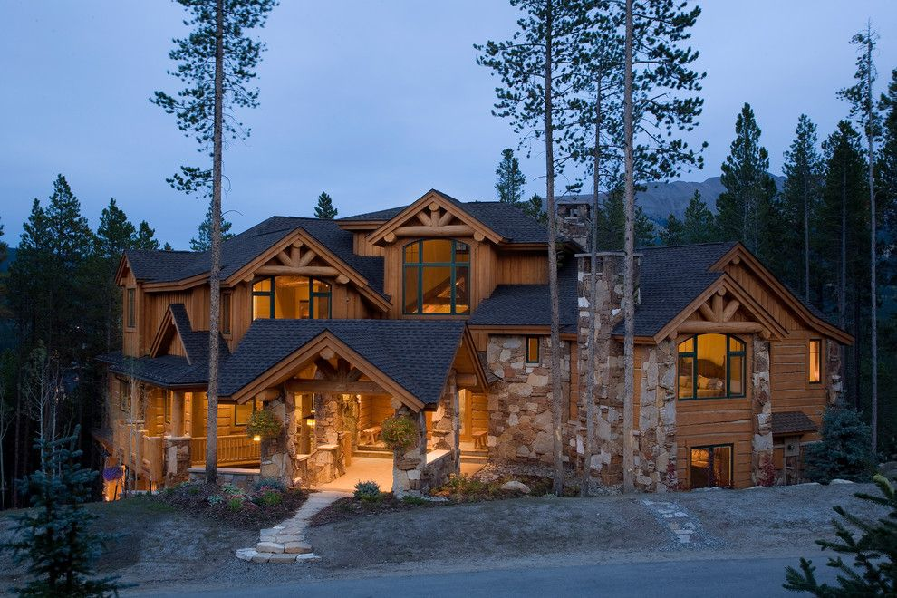 Glhomes for a Traditional Exterior with a Custom Home and Westridge Escape by Apex Mountain Homes