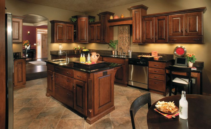 Godby Furniture For A Traditional Kitchen With A Staggered Height And Today S Starmark Custom Cabinetry Furniture By Today S Starmark Custom Cabinetry Furniture Homeandlivingdecor Com