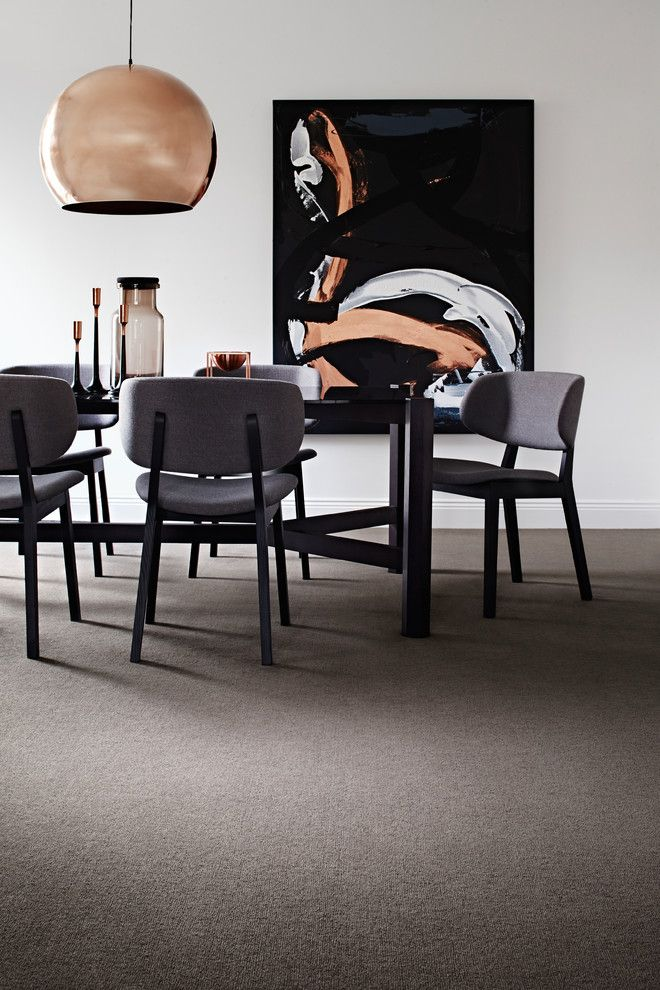 Godfrey Hirst for a Contemporary Dining Room with a Modernist and Wool Carpets ~ Hycraft by Godfrey Hirst