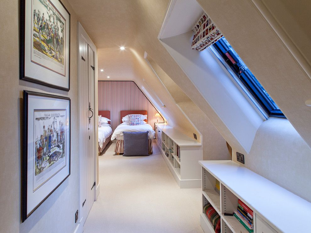 Godfrey Hirst for a Traditional Bedroom with a Upholstered Wall and Dalcross Castle by Maxwell & Company Architects
