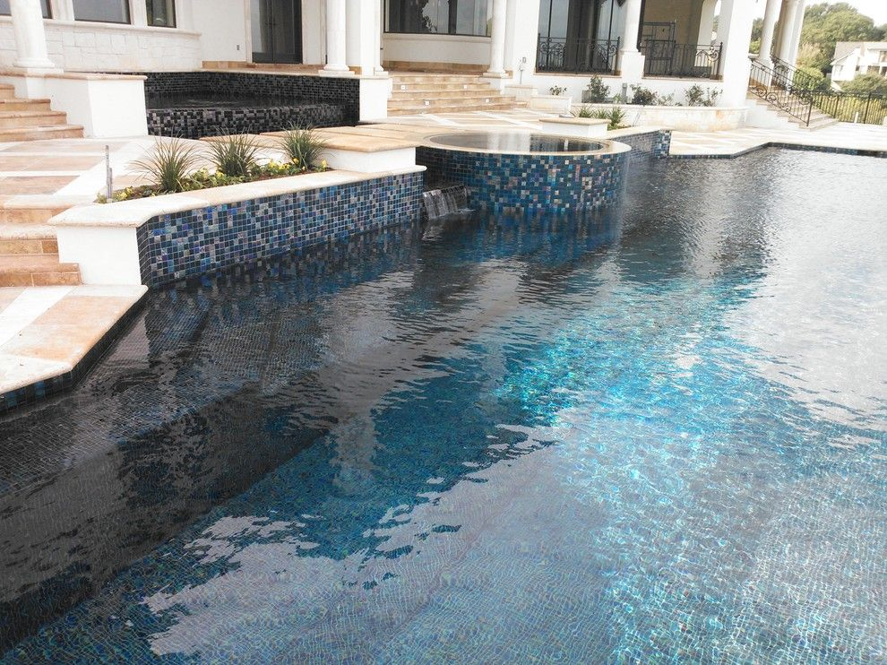 Gold Medal Pools for a Contemporary Pool with a All Tile and Large All Tile Pool by Ocean Quest Pools by Lew Akins