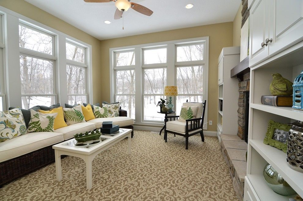 Gonyea Homes for a Traditional Family Room with a Built in Cabinets and Woolman Woods Model   Spring 2012 by Gonyea Homes & Remodeling