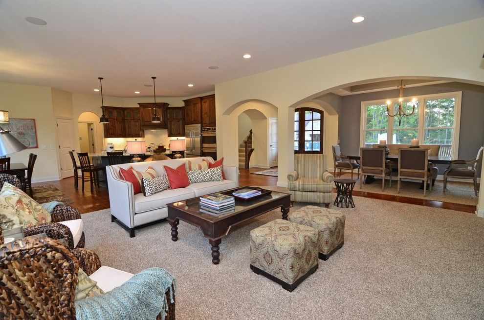 Gonyea Homes for a Traditional Living Room with a Open Floor Plan and Main Floor Living Room by Gonyea Homes & Remodeling