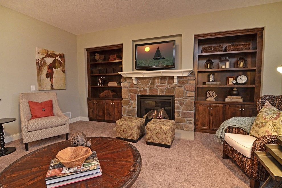 Gonyea Homes for a Traditional Living Room with a Tray Side Table and Hampton Hills Model by Gonyea Homes & Remodeling