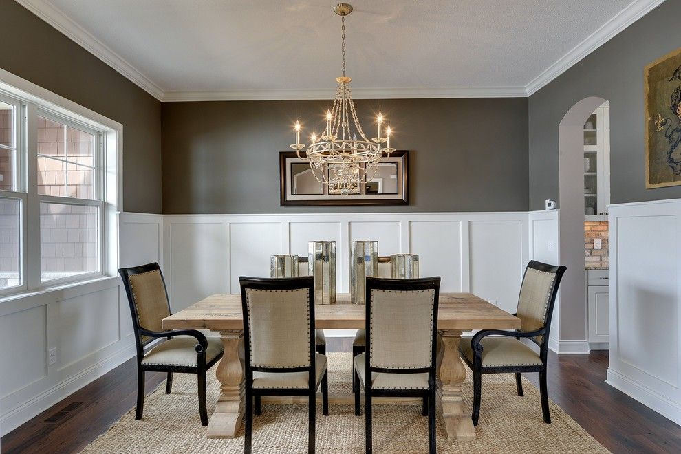 Gonyea Homes for a Transitional Dining Room with a Luxury Home and Dining Room   Kintyre Model   2014 Spring Parade of Homes by Gonyea Homes & Remodeling