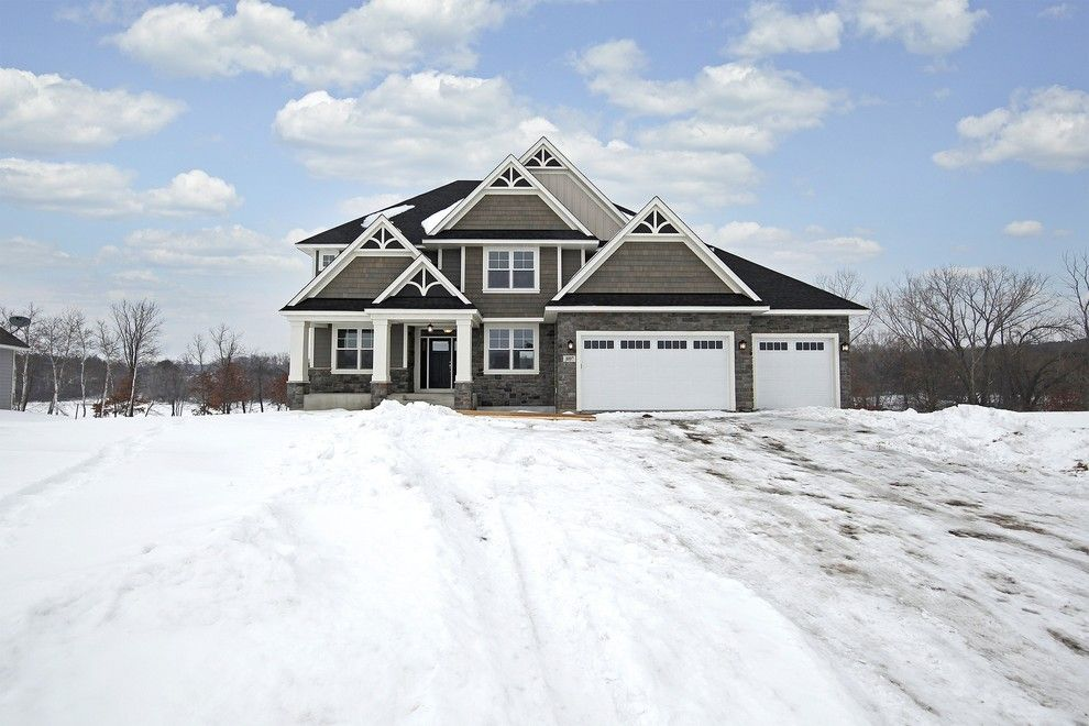 Gonyea Homes for a Transitional Exterior with a Gray Siding and Exterior – Bay Lake Reserve Model – 2014 Spring Parade of Homes by Gonyea Homes & Remodeling