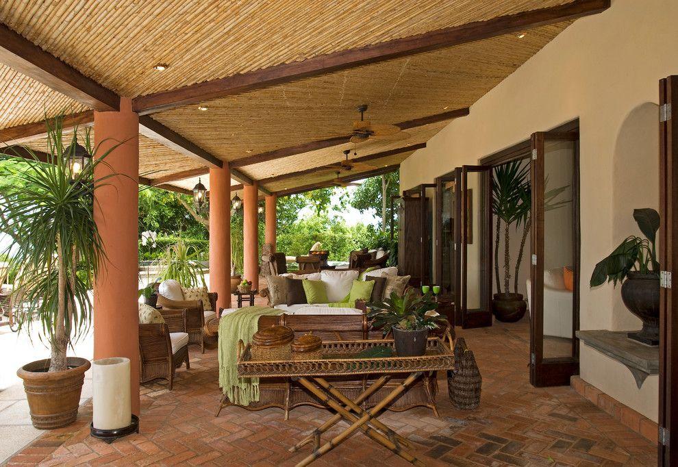 Gonzalez Furniture for a Tropical Patio with a Tropical Furniture and Beach House, Nacar. Faro Escondido,Costa Rica by Mgc Servicios De Arquitectura