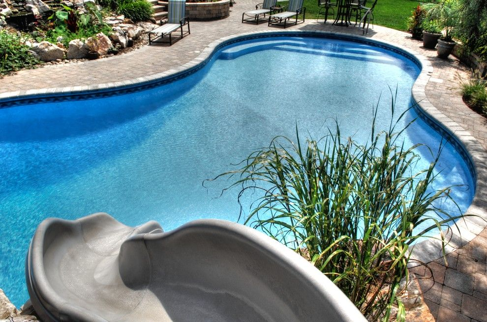 Goodall Pools for a Tropical Pool with a Tropical and Outdoor Pool with Lounge by Goodall Pools & Spas