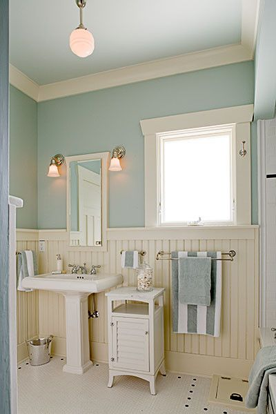 Gossamer Blue for a Traditional Bathroom with a Traditional and Traditional Bathroom Remodel by Gaspar's Construction