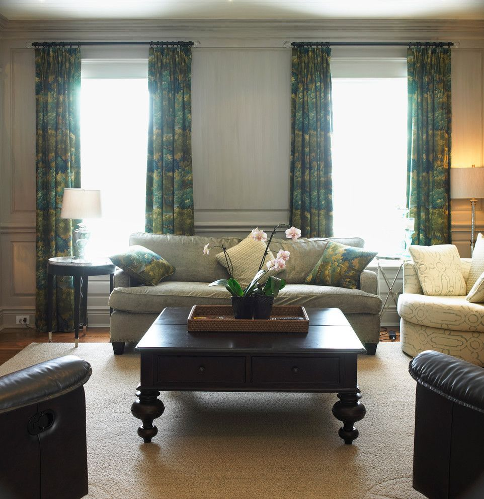 Gossamer Blue for a Traditional Family Room with a Traditional and Golf Club Renovation by Cheryl Scrymgeour Designs