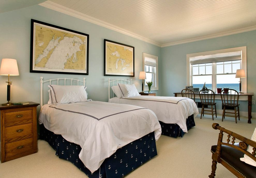 Gossamer Blue for a Traditional Kids with a Beach House and the Redfield Home by Mitch Wise Design,Inc.