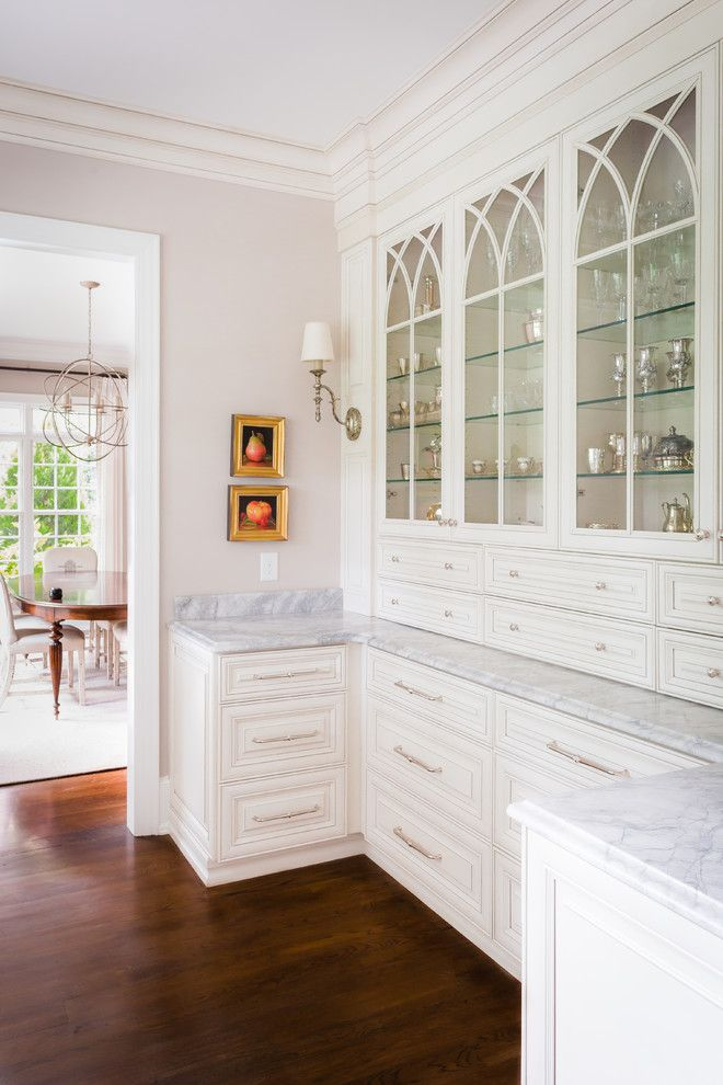 Gothic Cabinet for a Traditional Kitchen with a Classic Home and Laurel Hill by Will Johnson Building Company