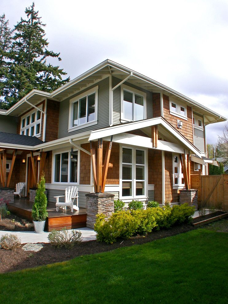 Graber Post Buildings for a Craftsman Exterior with a Shingle and Mukilteo Style by Sellentin True Design Build