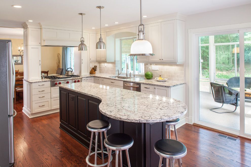 Graber Post Buildings for a Traditional Kitchen with a Cooktop and Larchmont Kitchen by Forward Design Build