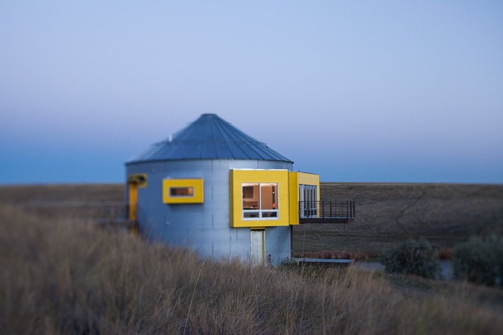 Grain Silo Homes for a Industrial Exterior with a Modern and Grain Bin Residence by Nick Pancheau, Aia
