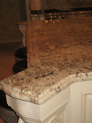 Granite Edges for a Traditional Kitchen with a Cherry Hill and Typhoon Bordeaux Granite by Stoneshop