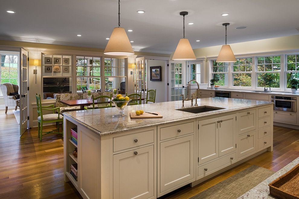 Granite Edges for a Traditional Kitchen with a Wood Floor and Gladwyne Redux by Jms Architecture Llc