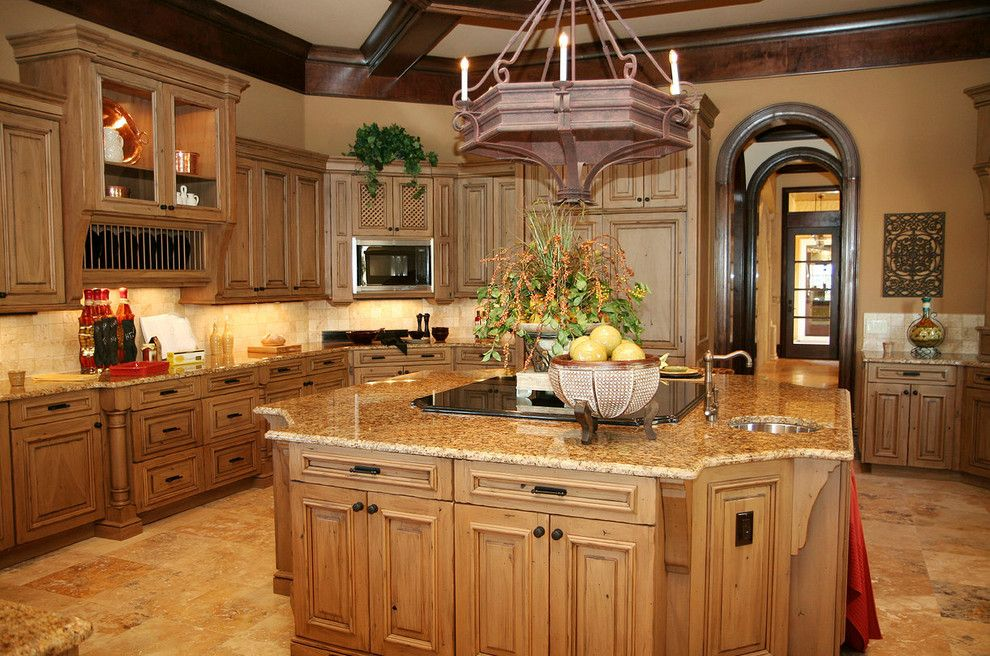 Granite Expo for a Traditional Kitchen with a Recessed Cabinets and Marble & Granite by Marble & Granite Expo Inc