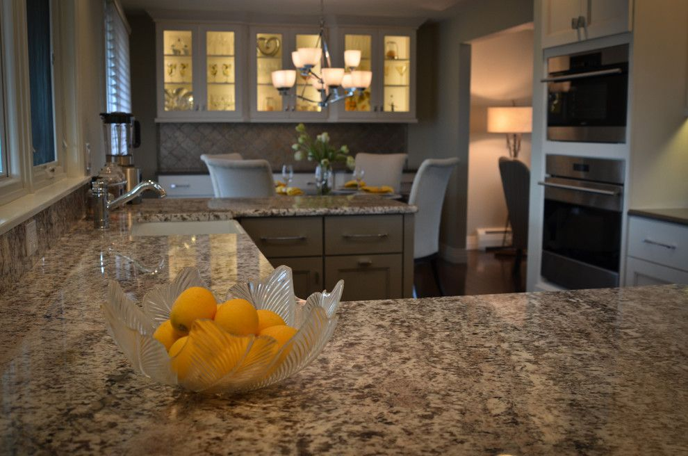 Granite Imports for a Transitional Kitchen with a Granite Kitchen Counter and Bianco Antico Granite and Quartz! by Granite Imports
