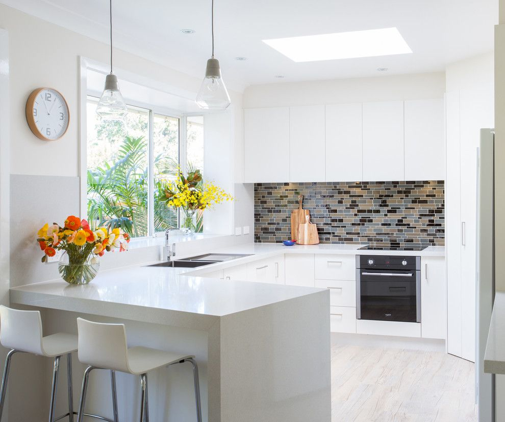 Granite Transformations Reviews for a Contemporary Kitchen with a Granite Transformations and White Kitchen by Granite Transformations