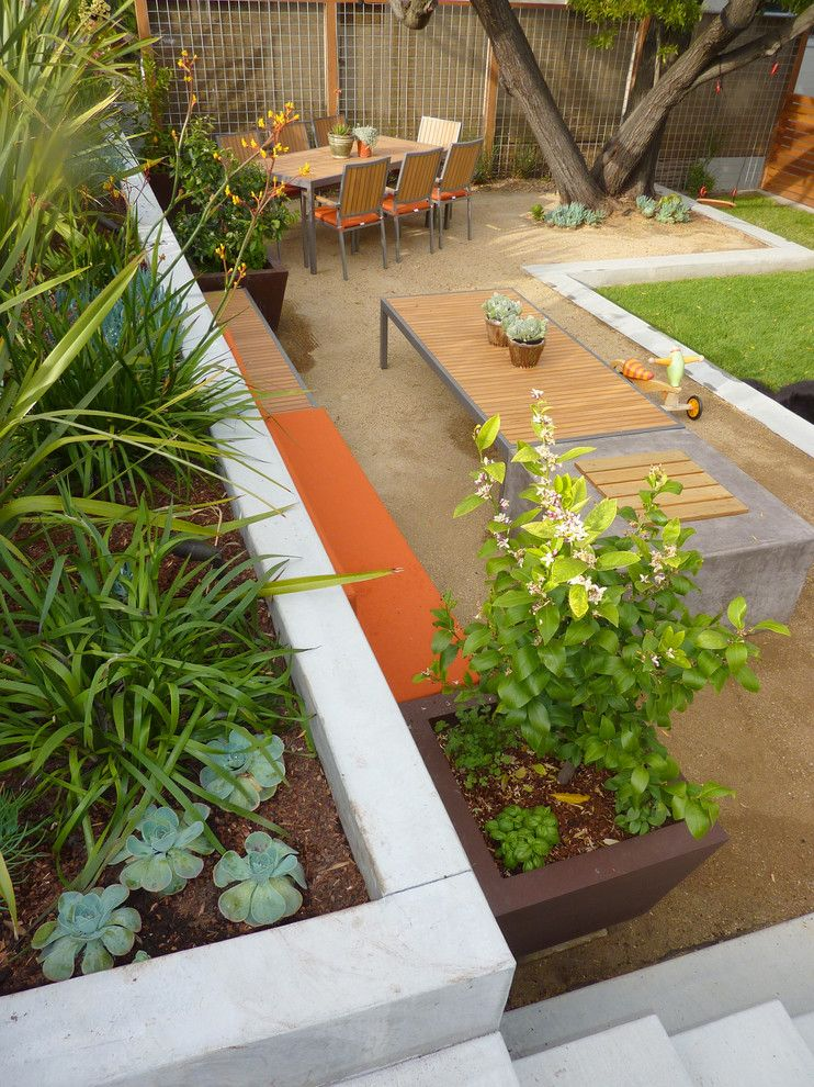 Granite Transformations Reviews for a Contemporary Landscape with a Bench and Modern Transformation by Shades of Green Landscape Architecture