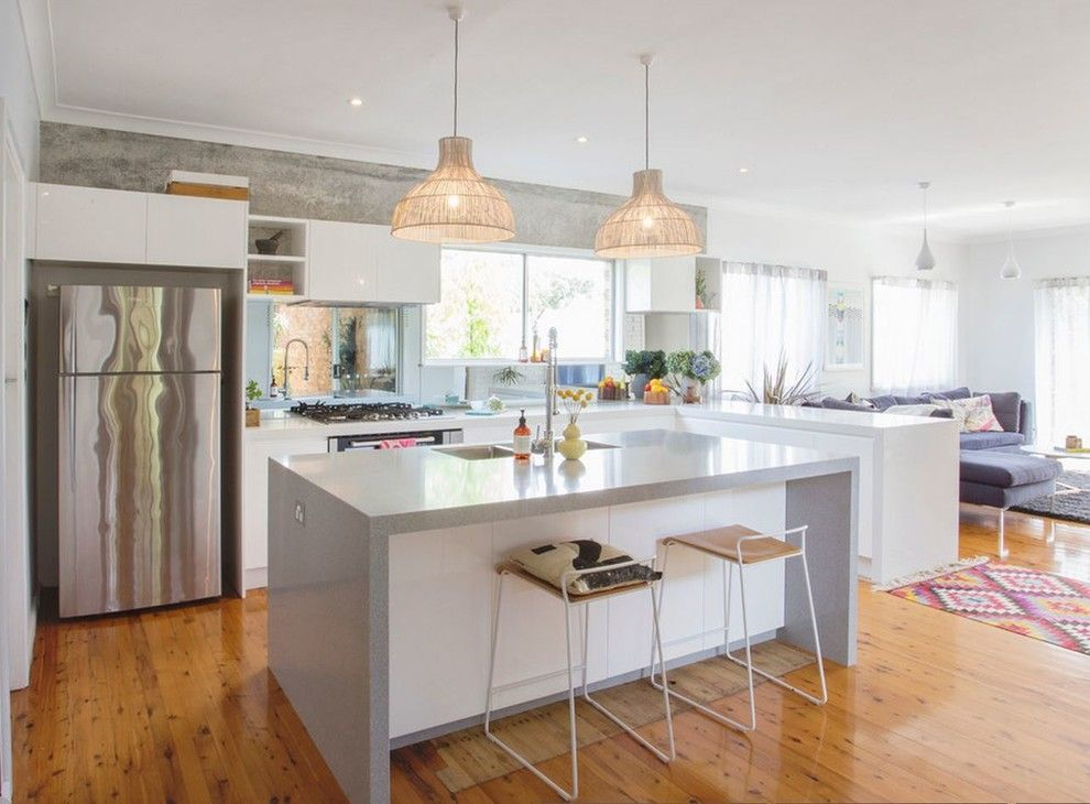 Granite Transformations Reviews for a Scandinavian Kitchen with a Pendant Lighting and Gorgeous White Kitchen by Granite Transformations