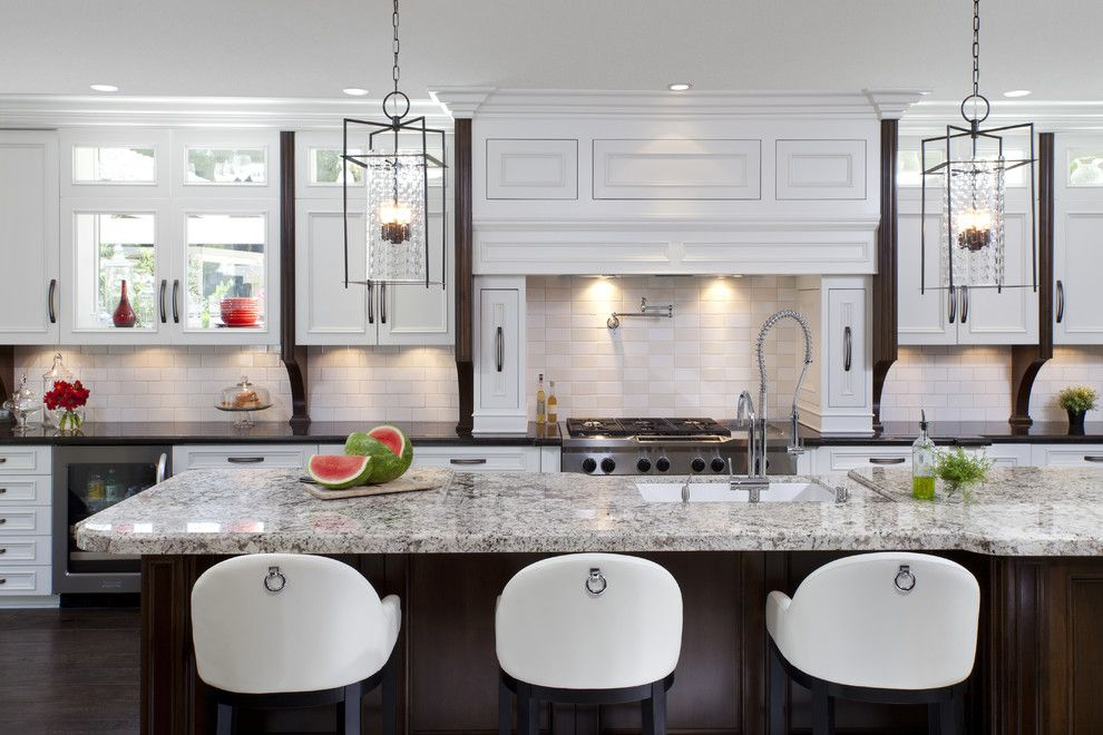 Granite Transformations Reviews for a Traditional Kitchen with a Backsplash and Kitchen Remodeling Ideas by Robeson Design