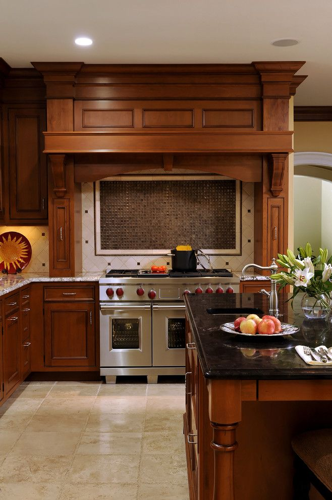 Granite Transformations Reviews for a Traditional Kitchen with a Corbels and Kitchen Area Renovation as Part of Whole House Remodeling Project by Bowa