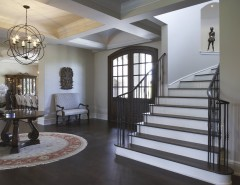 Gray Owl Benjamin Moore for a Eclectic Entry with a Foyer and Foyer by Lori Berg, Allied ASID