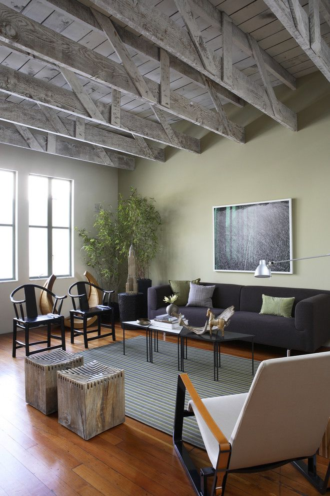 Green Demolitions for a Rustic Living Room with a House Plants and Lum by John Lum Architecture, Inc. Aia