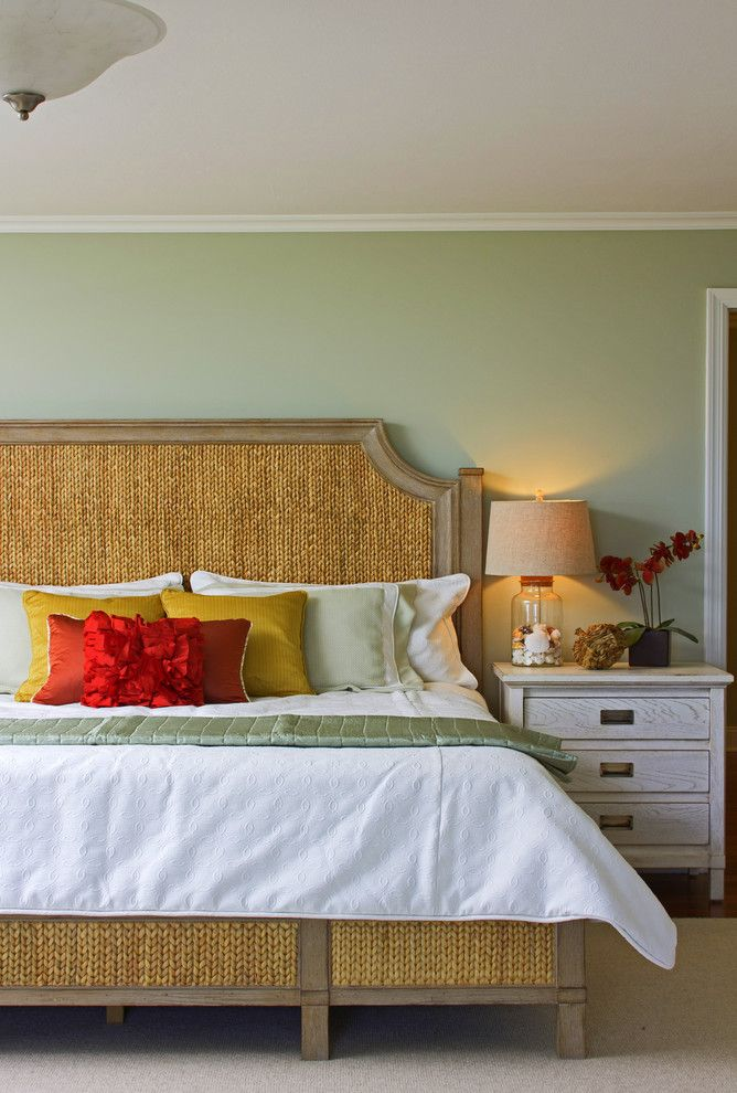 Green Demolitions for a Tropical Bedroom with a Light Green and Sea Girt Shore Portfolio by A. Rejeanne Interiors