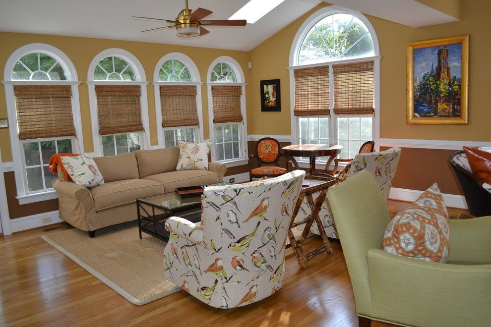 Greenfront Furniture for a Transitional Sunroom with a Orange and Eildonway   Living Room/sunroom by Jordan   Josephine