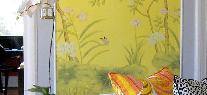 Greenhouse Fabrics for a Eclectic Living Room with a Yellow and Living Room by Maison21