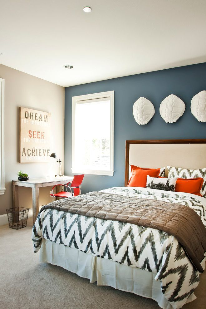 Greige Paint for a Contemporary Bedroom with a White Trim and Georgian   Parade of Homes 2012 by Cyndi Parker Interiors