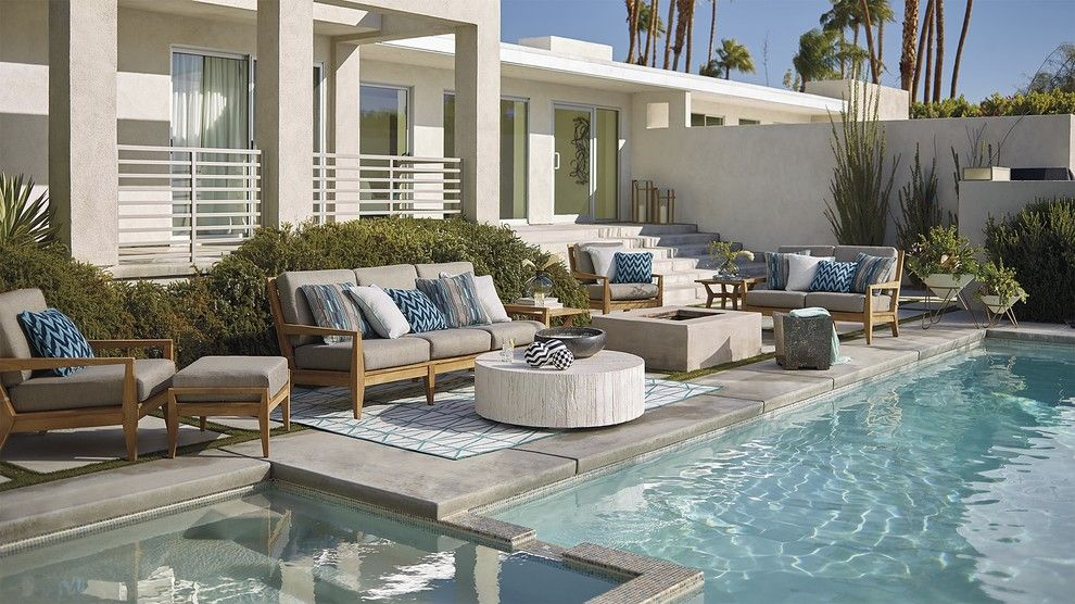 Griffin Pools for a Contemporary Pool with a Contemporary and Outdoor 2016 by Frontgate