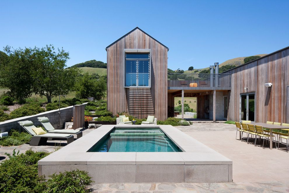 Griffin Pools for a Contemporary Pool with a Outdoor Living and West Marin Residence by Turnbull Griffin Haesloop