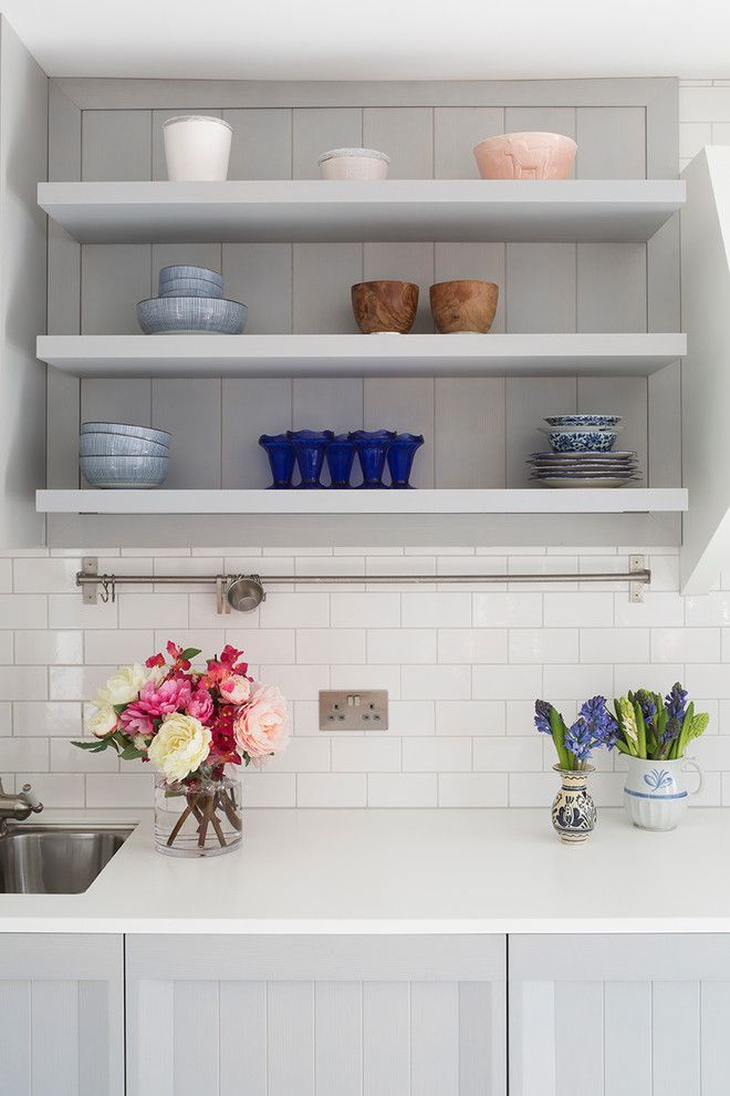 Grouting Tile for a Farmhouse Kitchen with a Kitchen and Ardesia Design   Treadgold Street by Ardesia Design