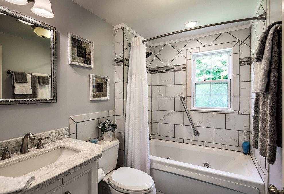 Grouting Tile for a Traditional Bathroom with a Traditional and Lowe's Sweepstakes by M Studio West