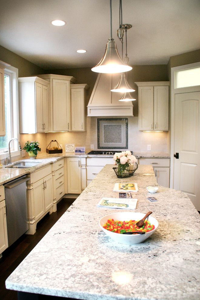 Gunnite for a Contemporary Kitchen with a White Cabinets and Granite Kitchen by Green Apple Design