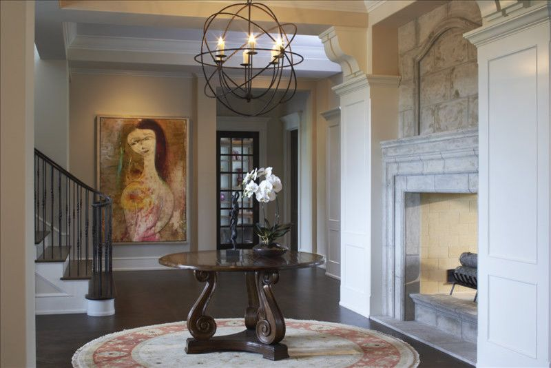 Guy Chaddock for a Eclectic Entry with a Jamali and Foyer by Gabberts Design Studio