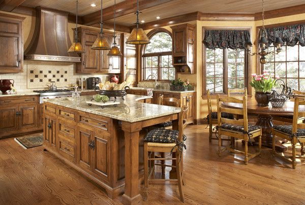 Guy Chaddock for a Traditional Kitchen with a Kitchen and English Manor House in Edina by Bruce Kading Interior Design