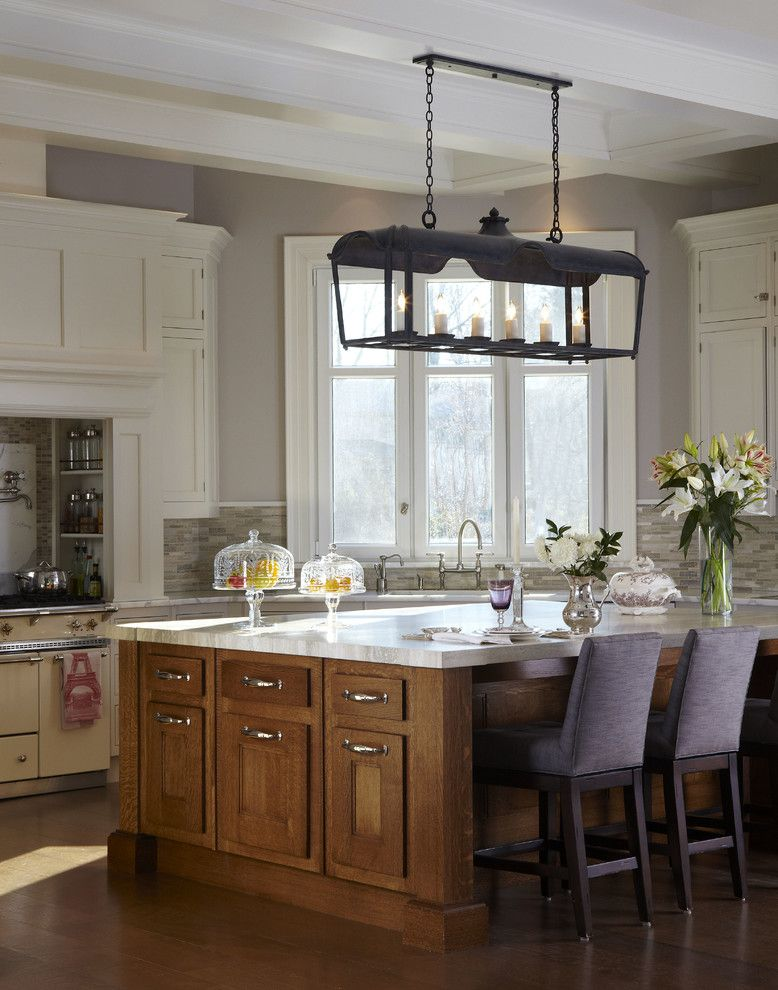 Guy Chaddock for a Traditional Kitchen with a Wrought Iron Lighting and Shelter Bay Drive by Sussan Lari Architect Pc