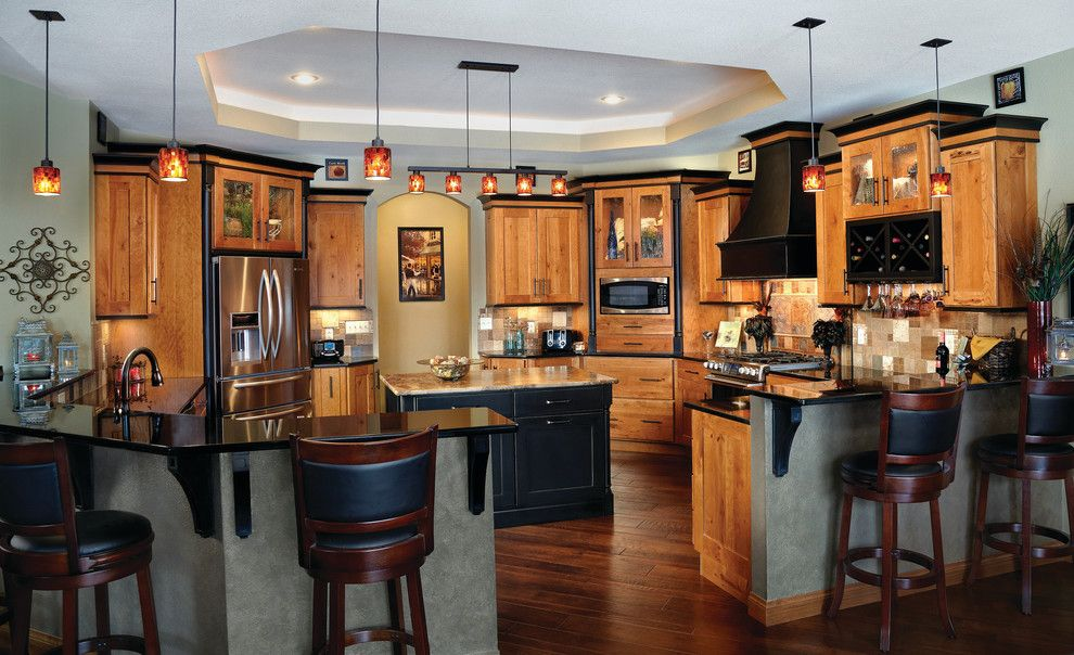 Haas Cabinets for a Contemporary Kitchen with a Cabinetry and Opulent Rustic Cherry Kitchen | Haas Cabinet by Haas Cabinets