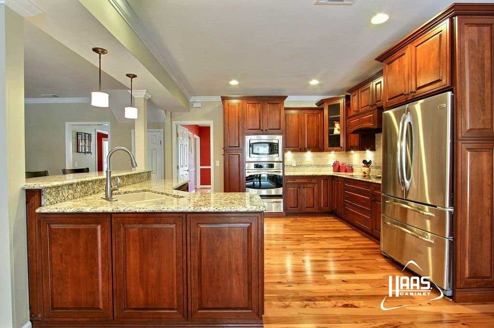 Haas Cabinets for a Craftsman Kitchen with a Haas Cabinet and Colonial Cherry | Haas Cabinet by Haas Cabinets