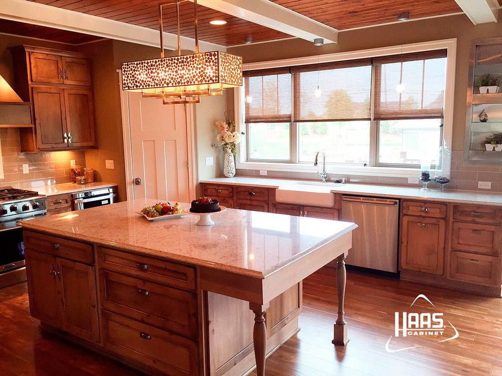 Haas Cabinets for a Rustic Kitchen with a Cabinets and Cottage Rustic Distressed Kitchen | Haas Cabinet by Haas Cabinets