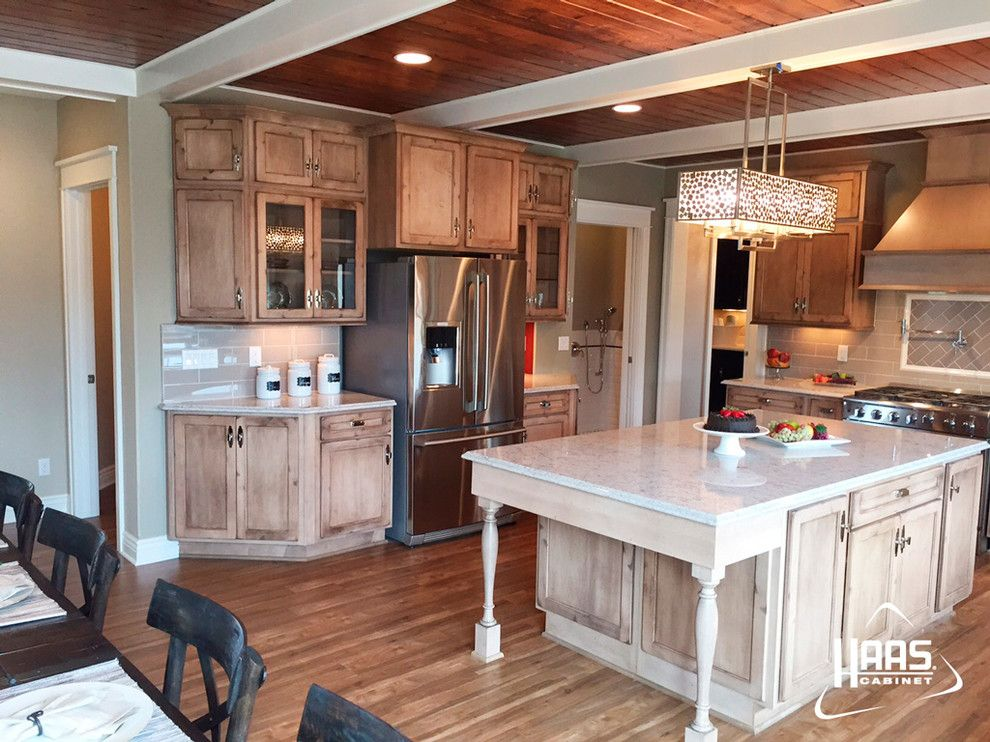 Haas Cabinets for a Rustic Kitchen with a Kitchen Cabinets and Cottage Rustic Distressed Kitchen | Haas Cabinet by Haas Cabinets