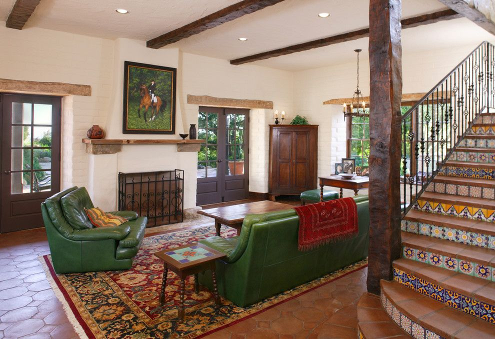 Hacienda Lighting for a Mediterranean Family Room with a Rustic and Family Room by Tom Meaney Architect, Aia