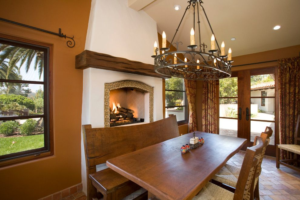 Hacienda Lighting for a Mediterranean Kitchen with a San Diego and Haute Hacienda by Hamilton Gray Design, Inc.