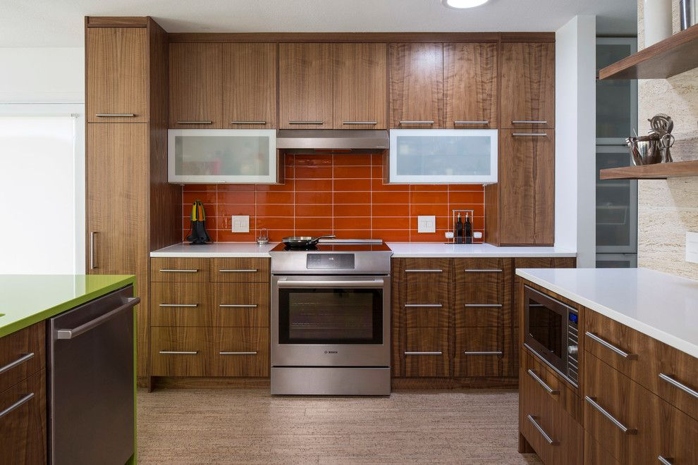 Hahn Appliance for a Midcentury Kitchen with a Midcentury and After 4   Saint Anthony Mid Mod Kitchen by Knutson Residential Design, Llc